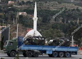 100 Patriot Truck German Military Truck Carrying NATOs Missile Stock Photo