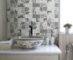 Tile Flooring Ideas For Kitchen by Patchwork Backsplash For Country Style Kitchen Ideas Homestead