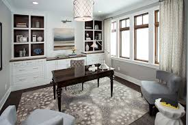 Home Office Grays Whites And Wood Tones Creamy White Built In