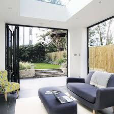 Imagine The Breeze And Fragrances That Will Waft Through This Simply Designed Living Area Just Lovely Bi Fold Doors Cedar Bifold Company Sofa Made