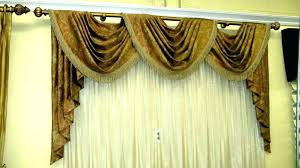 Curtains Valances And Swags Window Swag For Windows Dining Room Cute Bay Curtain Valance