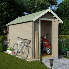 billyoh 10 x 8 28mm apex log cabin windowless heavy duty garden