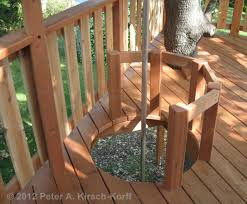 Free Standing Deck Bracing by Firepole Cutoff For A Free Standing Multilevel Wood Tree House