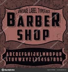 handcrafted vintage barber shop font u2014 stock vector bowxwod