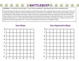 Coordinate Grid Battleship By Parrotts Place