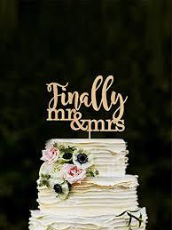 Amazon Finally Wedding Cake Topper Mr Mrs Cake Topper