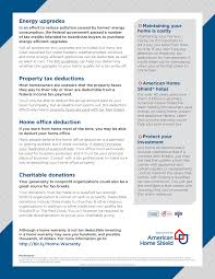 American Home Shield Tax Tips