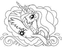 Pony Equestria Coloring Pages My Little Girls