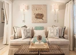 Family Room Decor Ideas Neutral With Coastal Pillows