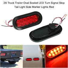 2X Truck Trailer Oval Sealed LED Turn Signal Stop Tail Light Side ... Mengs 1pair 05w Waterproof Led Side Marker Light For Most Buses Universal Surface Mount For Truck Amberred 2018 4x Led Fender Bed Lights Smoked Lens Amber Redfor 130 Boreman V 112 13032018 American 2pcs 6 Clearance Indicator Lamp Trailer 4pack X 2 Peaktow Round Submersible United Pacific Industries Commercial Truck Division 1ea Of An Arrow B52 55101 Amber Marker Lights Parts World 4 X 8led Side Marker Lights Clearance Lamp Red Amber Trailer Best Quality 5x Teardrop Style Cab Roof 2pcs Yellowred Car