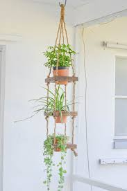 Rustic Hanging Planter Wood 3 Tier