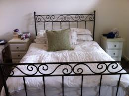 White Wrought Iron King Size Headboards by Montpellier Black Wrought Iron Bed Wrought Iron Bed Frame