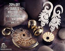20% Diablo Body Jewelry. Coupon Code D0413. April 2-5 | Coupons ... Bodyartforms Haul Reveal Unboxing Sharing Whatever You Call It Discount Coupons For Dorney Park Pi Hut Paytm Free Recharge Coupon Code 2018 Amzon Promo Best Whosale All Over Piercings Honda Pilot Lease Deals Nj Body Foreplay Coupons Ritz Crackers Tracking Alpine Adventures Zipline Bj Membership Tractor Supply Policy Scream Zone Hot Ami Styles Buy Appliances Clearance Guild Wars 2 Jcj Home Perfect