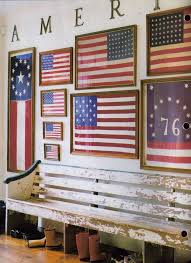 Decorating Your House For A Of July Party Entertaining Patriotic American Flags In Foyer Rustic Red White And Blue