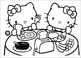 Hello Kitty Coloring Page Pages Amazing Print Games Merry Christmas Kitten Sheets