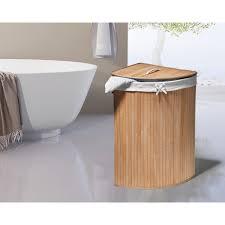 gartenfreude wäschekorb bambus dreieckig natur 38 l kaufen