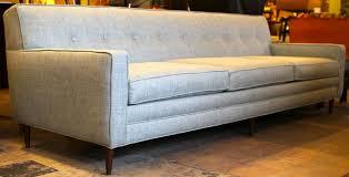 mid century modern blue sofa tight back sofa tufted sofa tufts
