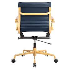 Bungee Office Chair With Arms by Mirana Blue Modern Office Chair Eurway Furniture