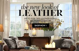 pottery barn luxury leather is up to 30 off plus today only