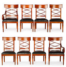 Set Of 8 Milling Road For Baker Dining Chairs