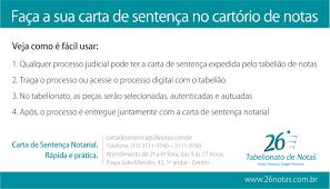Artigo Cartas Notariais De Sentença Judicial Um Ano De Vigência