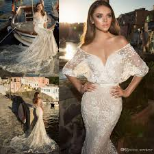 Julievino 2017 Vintage Wedding Dresses Lace Applique Mermaid Dress Backless Half Sleeve Court IJTOWLW