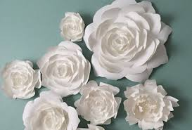 Spectacular Idea Wall Decor Flowers Or PaperFlora Paper Flower Walls Backdrops And Home By Backdrop Photo White Umbra