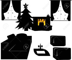 kinder s schuhe mit süßigkeiten und geschenke für nicholas tag gefüllt am 6 dezember hängen kamin im wohnzimmer silhouette