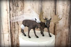 Moose Hunter Wedding Cake Topper Rustic Hunting Camouflage Western