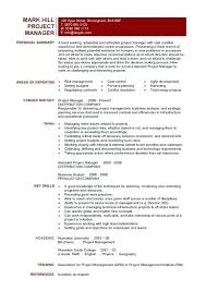 Construction Project Manager Resume Objective Example Managers