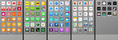 Arranging your iPhone app icons by color might help you find them