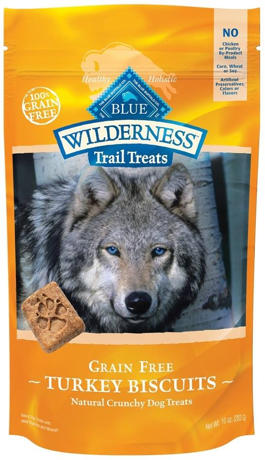 Blue Buffalo Wilderness Trail Dog Treats - Turkey Biscuits, 10oz