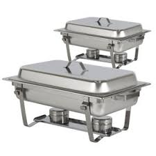 Best Choice Products Chafing Dish Set Of 2 8 Quart Stainless Steel Full Size Tray Buffet Catering