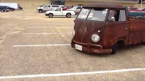 OMG! BAD ASS '59 VW TRUCK * RUSTY RAT ROD SLAMMED *