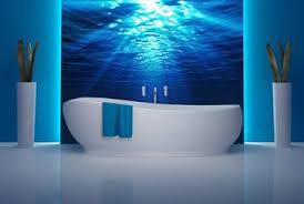 strahlen unter wasser fototapeten für badezimmer