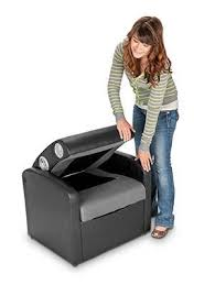 Extreme Sound Rocker Gaming Chair by X Rocker Triple Flip 2 0 Storage Ottoman Sound Chair Black Gray