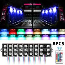 8Pcs LED Rock Lights Truck Bed Under Body LED Lighting RGB Control+ ... Truck Bed Lighting Kit 8 Modules Free Installation Accsories Cheap System Find Opt7 Aura 8pc Led Sound Activated Multi Lumen Trbpodblk 8pod Lights Ford F150 Where To Buy 12v White Light Strips For Cars Led Light Deals On Line At Aura Pod Multicolor With Remotes 042014 Rear Tailgate Emblem 2 Tow Hitch Cover White For Chevy Dodge Gmc Ledglow Installation Video Youtube 8pcs Rock Under Body Rgb Control