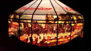 Antique Tiffany Lamps Ebay by Budweiser Pool Table Pub Bar Beer Sign Light Hanging Lamp 2001