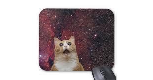 tapis de souris chat de galaxie criant dans l espace zazzle ca