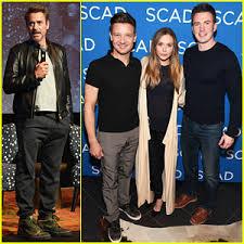 Chris Evans Robert Downey Jr Host Special Screening Wind River For Jeremy Renner Elizabeth Olsen