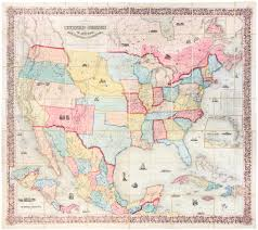 Coltons Map Of The United States America British Provinces Mexico And West Indies Showing Country From Atlantic To Pacific Ocean