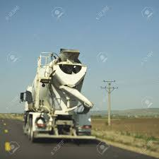 100 Truck Driving Company Concrete Mixer Cement On The Freeway Real Tilt