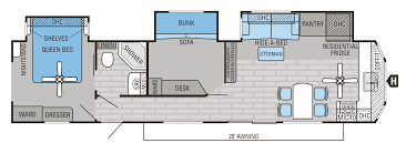 Fifth Wheel Bunkhouse Floor Plans by 2 Bedroom Travel Trailer Floor Plans Ideas Also Rv Plan Home