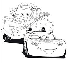 Printable Colouring Pictures Cars Movie Coloring Page 3d 3