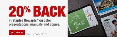 Back In Staples Rewards On Color Presentations Manuals And Copies Print