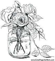 Flower Coloring Pages Free Print Out Printable Adult Color Pictures Of Small Flowers Online