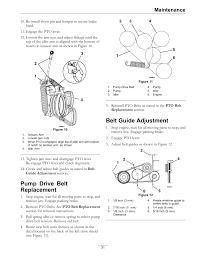 pump drive belt replacement belt guide adjustment maintenance