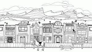 10 Pics Of Western Landscape Coloring Page