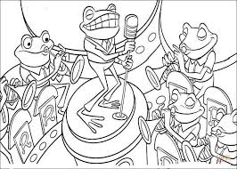 Click The Band Of Frogs Coloring Pages