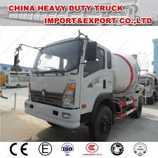 China Sinotruk Light Duty Cement Mixer 3m3 Concrete Transport Truck ...